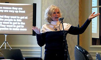 Dr. Sheryl Burgstahler gives a presentation.