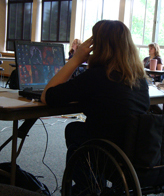 Photo of a student at a laptop computer