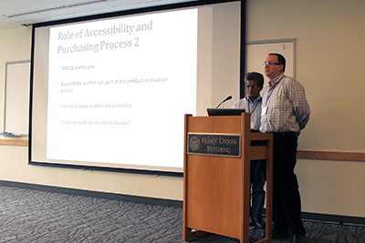 Hadi and Dan present on accessibility and purchasing.