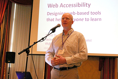 Terrill Thompson presents on web accessibility.
