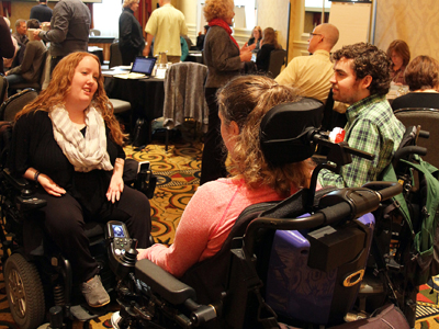 Image of participants collaborating at the 2014 AccessSTEM CBI