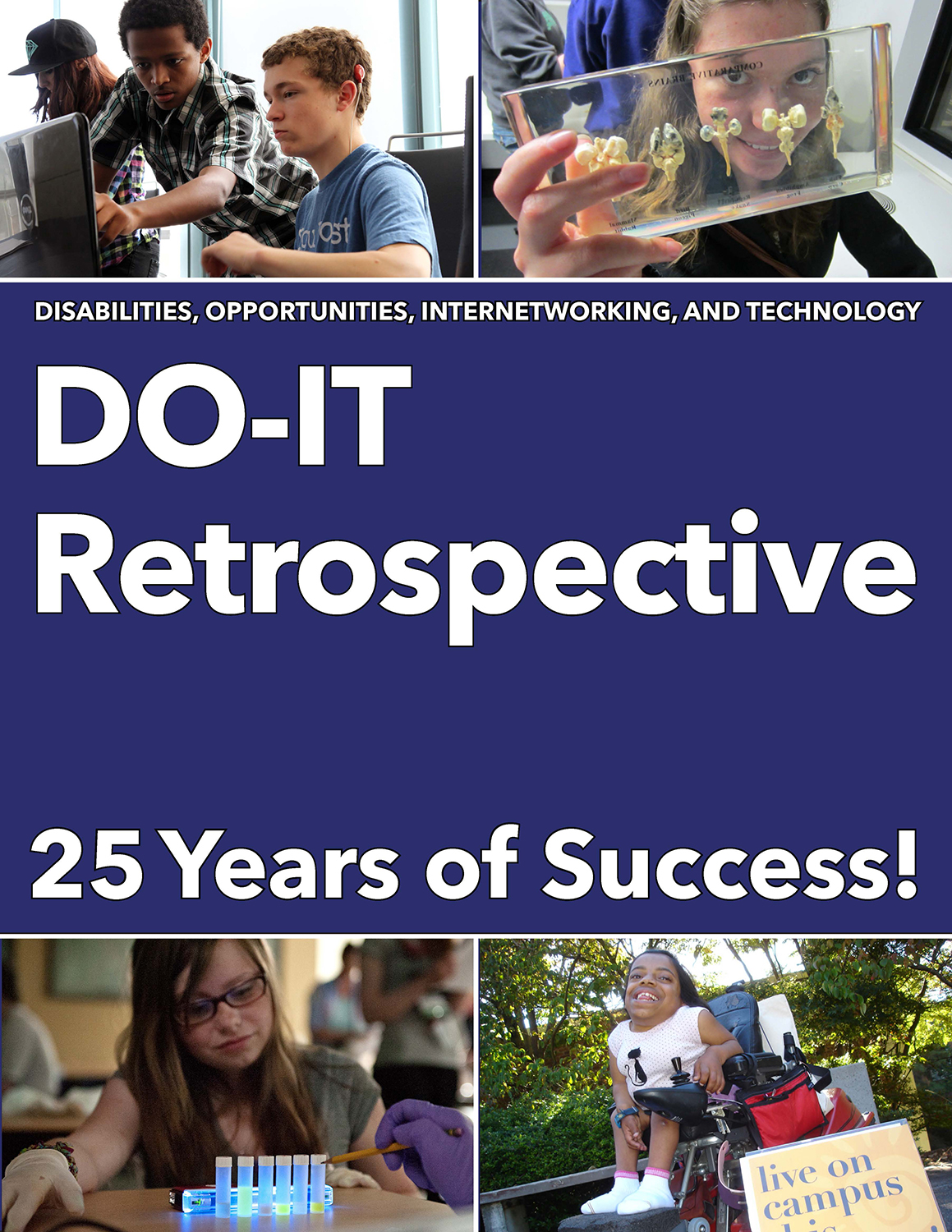 The cover of the DO-IT Retrospective: 25 Years of Success