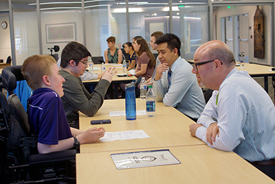 Students participate in mock interviews with local employers.