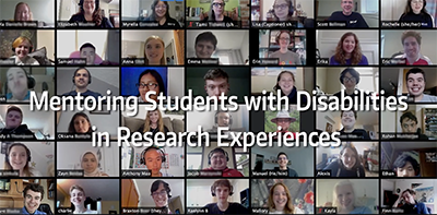 A screenshot from the video Mentoring Research Students