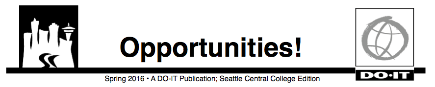 Opportunities News Seattle Central College Fall 2016 Header