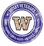 Husky Veterans logo.