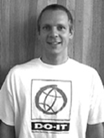 Photo portrait of 2001 DO-IT staff mentor Scott Bellman