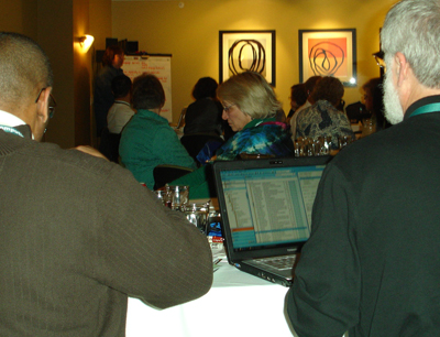 Photo of a participant giving a Working Group Discussion report