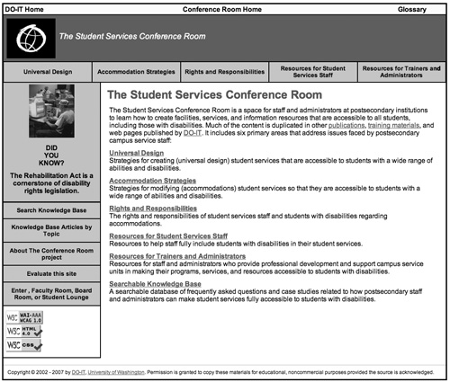 DO-IT Student Services Conference Room screenshot