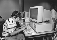 Photo of Eric in the computer lab