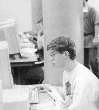 Photo of Bill in the computer lab