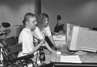 Photo of Mark and Serena in the computer lab