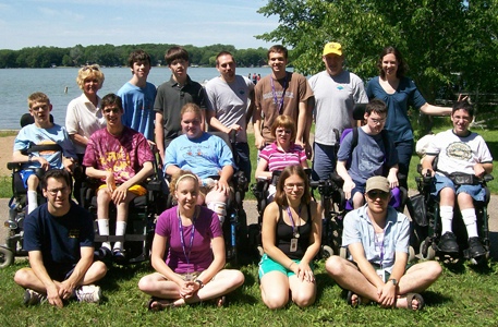 Group photo of Courage Campers.