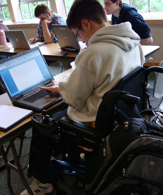 Students learn how to make accessible websites at the Web Accessibility Training.