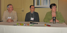 Bill Corrigan, Cheryl Hammond, and Wei-zhong Wang on a panel together.