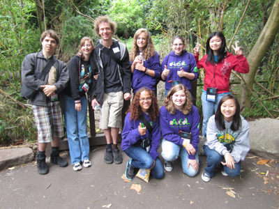 Group photo of DO-IT Scholars and Interns at the Woodland Park Zoo