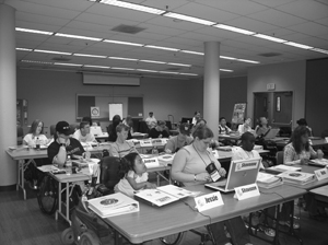 Photo of Phase two DO-IT Scholars in the computer lab.