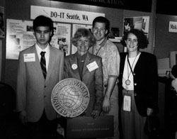 Photo of Zachary, Sheryl, Darin, Julie at NSF Award Ceremony