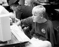 Photo of Erofei at the computer