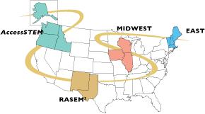 NSF  Regional Alliances Map