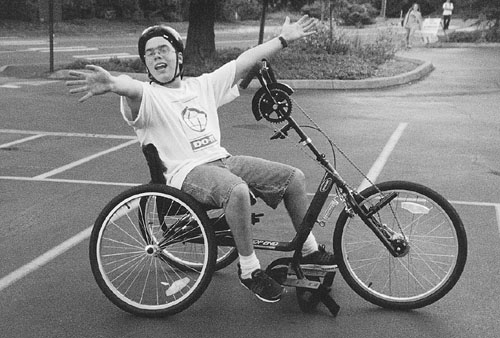 Picture of Jacob on a bike.