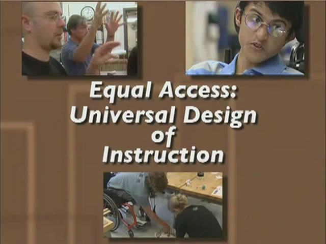 Equal Access Universal Design Of Instruction Do It Video