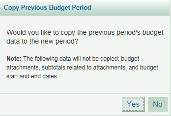 copy previous budget period dialog