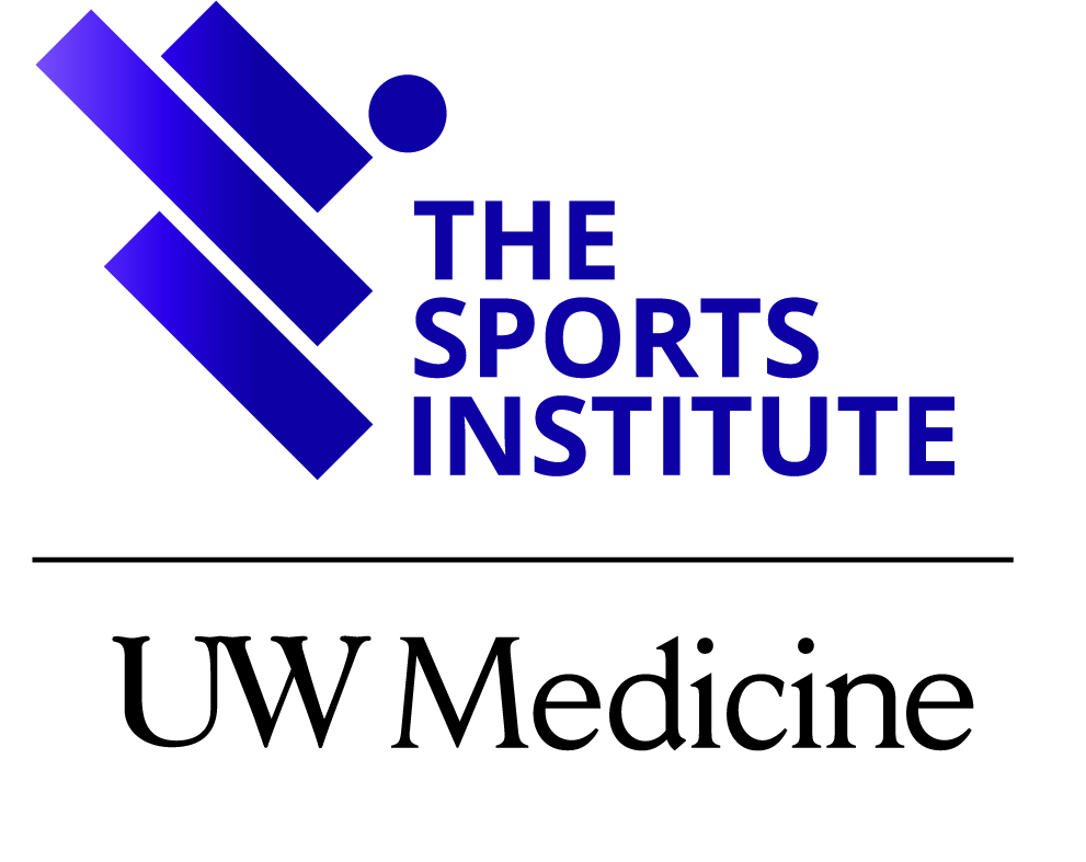 The Sports Institute at UW Medicine Logo in blue and black