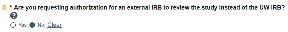 external IRB question
