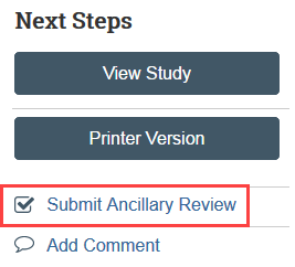 screenshot of the submit ancillary review button