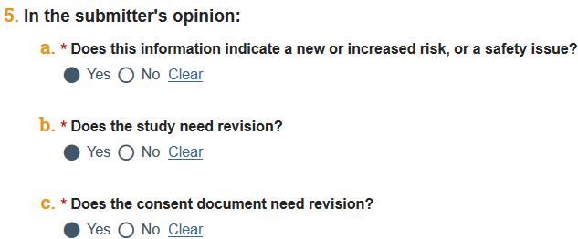 screenshot of RNI question 5