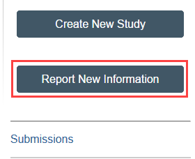 screenshot of the Report New Information button