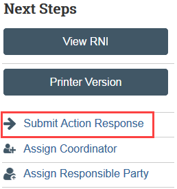 Screenshot of the Submit Action Response action in Zipline