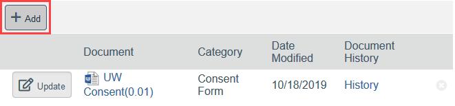 screenshot of add document button