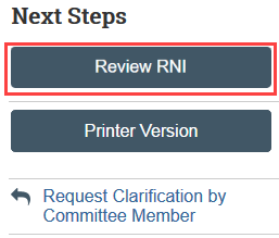 review RNI button
