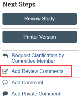 add review comments button