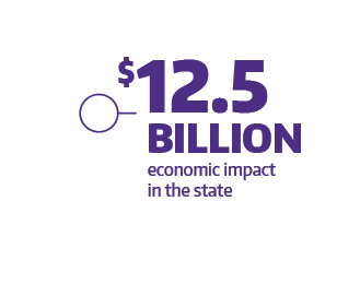 $12.5 billion economic impact in the state